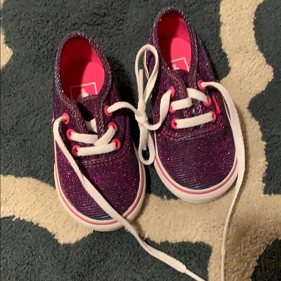 Vans Other - vans sneakers pink and blue glitter